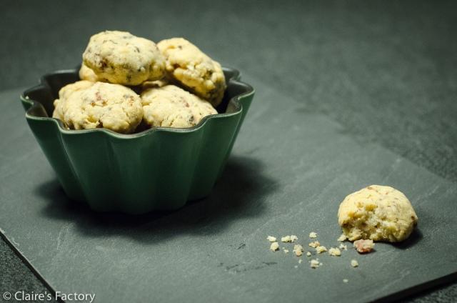 """Mini-cookies salés.  Photo réalisée par le """"testeur attitré"""""""